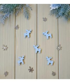 """Новорічний декор із дерева """"Оленя"""" (розмір 30х30 мм)"""