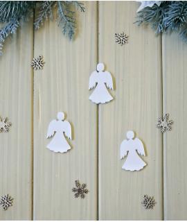 """Новорічний декор із дерева """"Янгол"""" (розмір 50х30 мм)"""