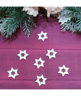 """Новорічний декор із дерева """"Зірка"""" (розмір 30х30 мм)"""