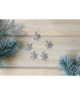 Кулон, підвіска-шарм Сніжинка 18х24мм