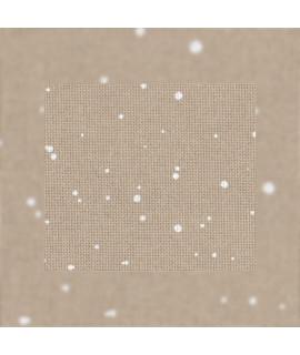 Zweigart Lugana 25ct  3835/7449 Splash ,бежевий з білими бризками