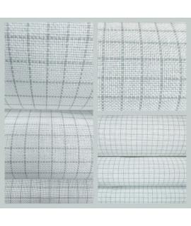Тканина для вишивання Zweigart Easy Count Grid Murano 3516/1219, 32ct шириною 140см, біла з розміткою
