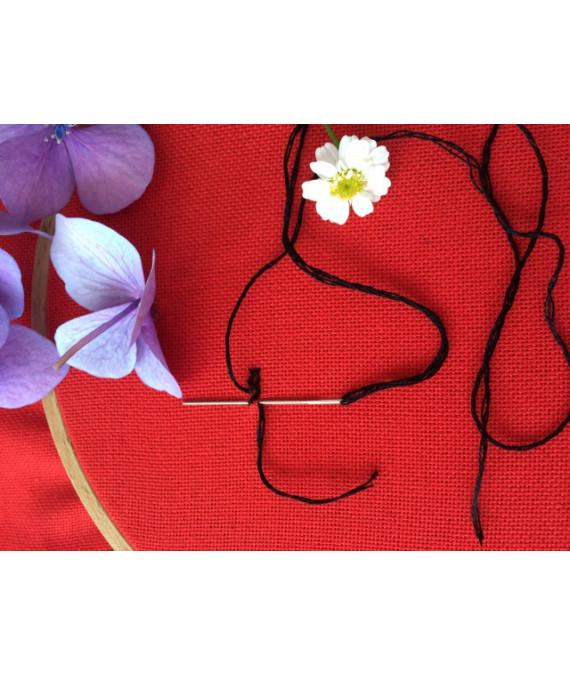 Рівномірна домоткана тканина для вишиванок Червона яскрава для вишиванок 34f362d76fbc9