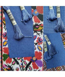 Рівномірна тканина « Кобальтовий мармур »