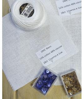 Домоткана тканина Blanc DMC (28сt)